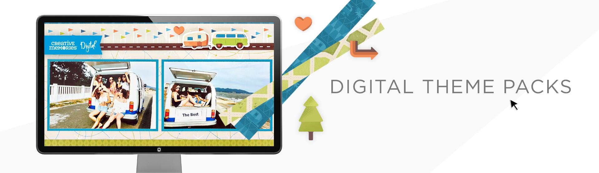 Digital Scrapbooking Kits: Theme Packs