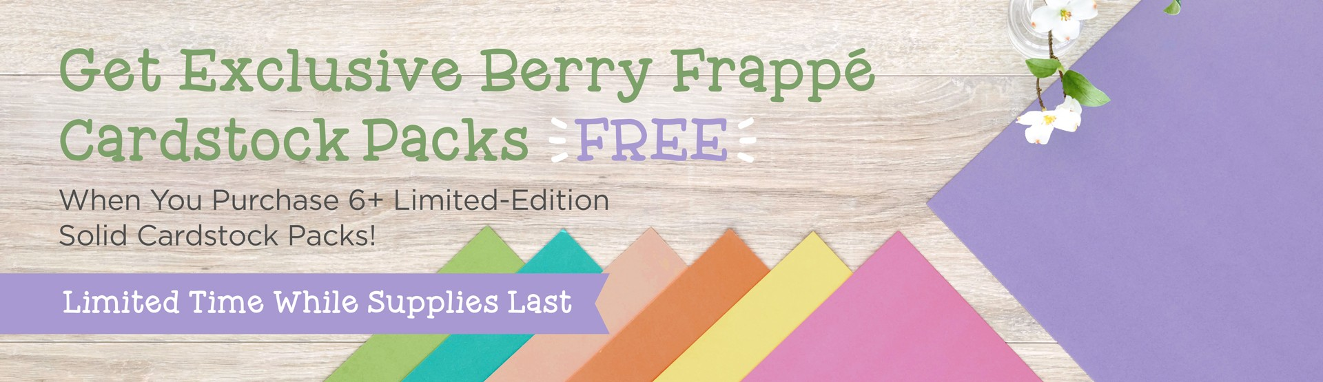 LIMITED TIME: Solid Cardstock Buffet