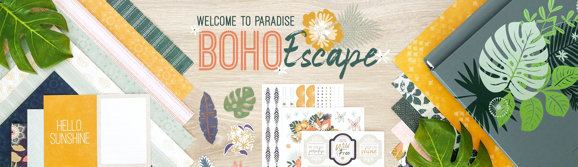Boho Scrapbooking Supplies: Boho Escape