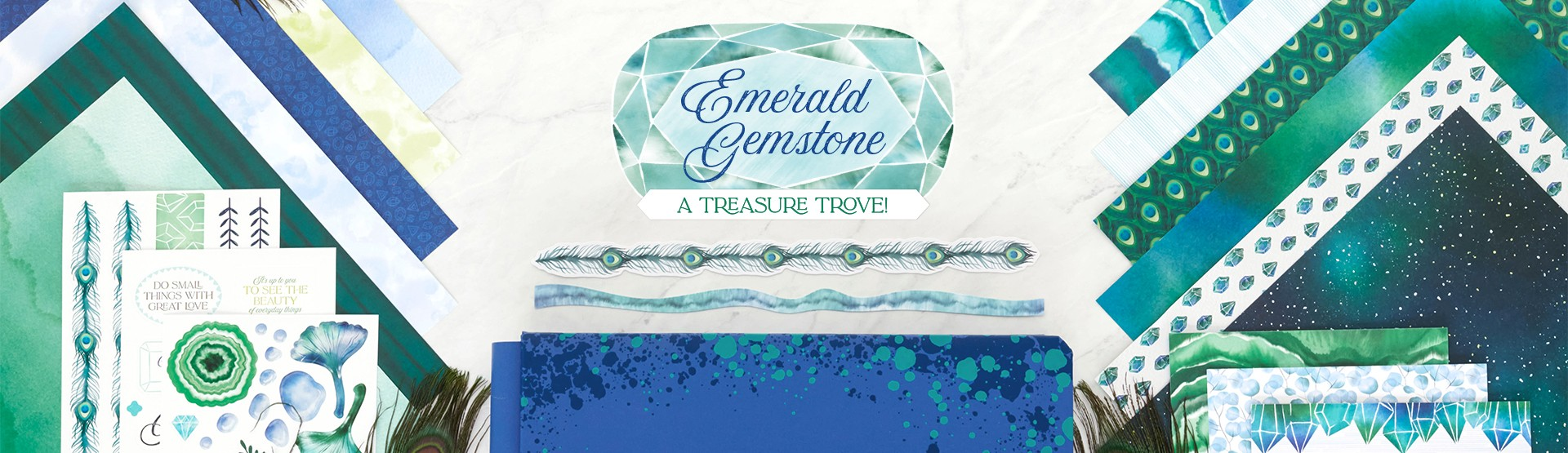 Natural Wonders Scrapbooking Supplies: Emerald Gemstone