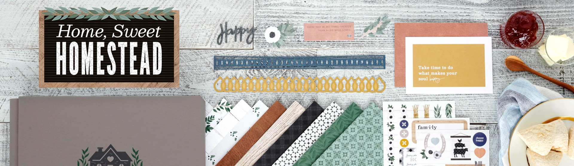 Farmhouse Chic Scrapbooking Supplies: Homestead