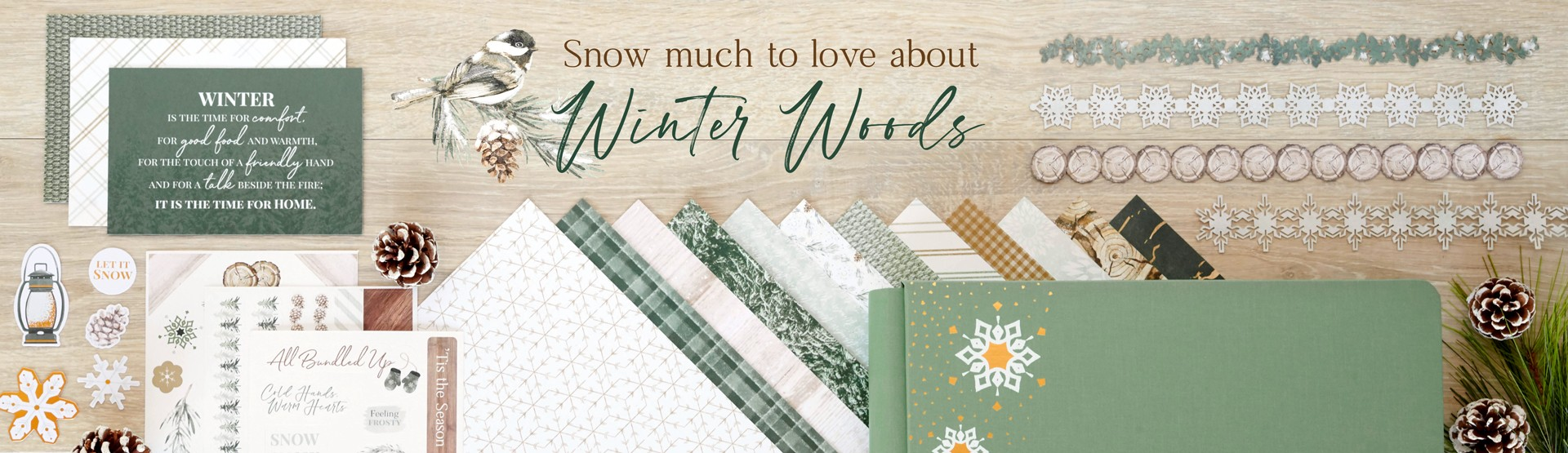 Winter Scrapbooking Supplies: Winter Woods