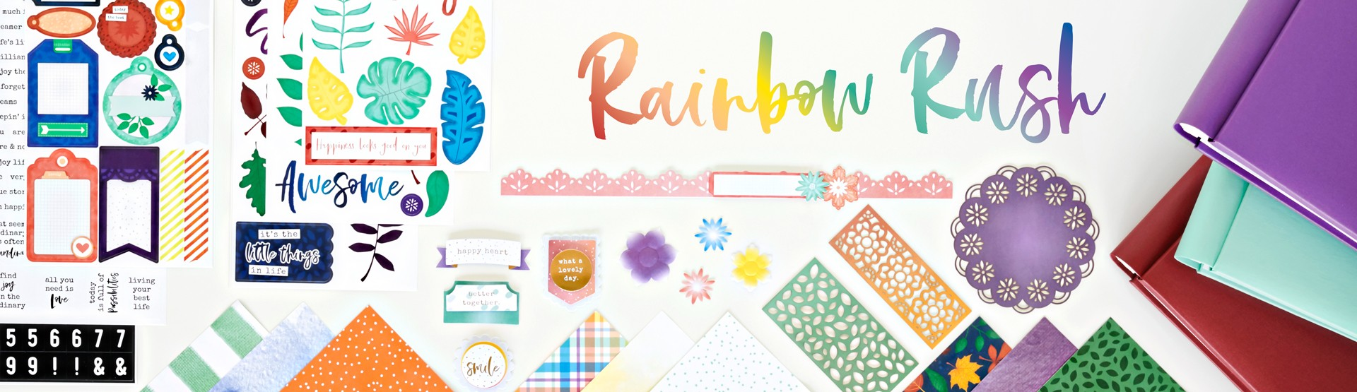 Mix & Match Scrapbook Supplies: Rainbow Rush