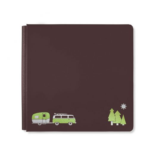 Creative Memories 12x12 brown Open Road Travel Scrapbook Album Cover - 657316