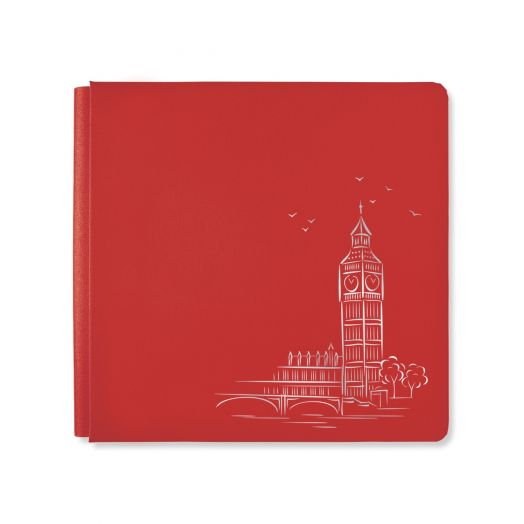Creative Memories 12x12 red London photo album cover