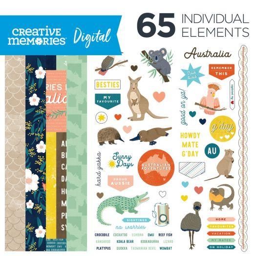 Digital Scrapbooking Australia Kit: Aussie Adventure