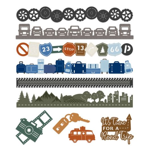Creative Memories automobile decorations for scrapbooking