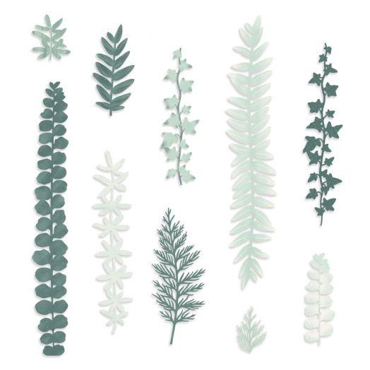 Creative Memories Beneath the Pines laser cut leaf embellishments