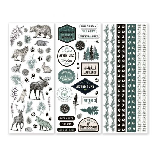 Creative Memories Beneath the Pines forest stickers