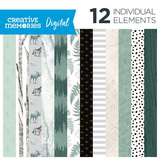 Digital Beneath the Pines Paper Pack - Creative Memories