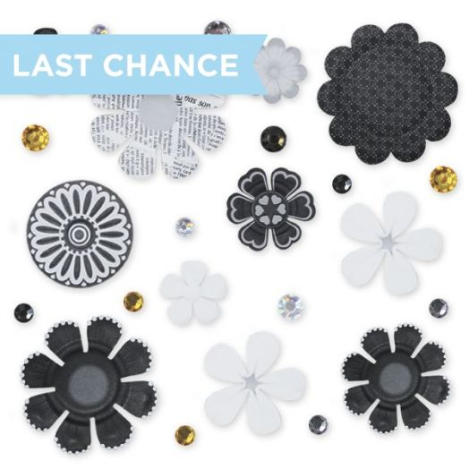 Black & White Flower Embellishments