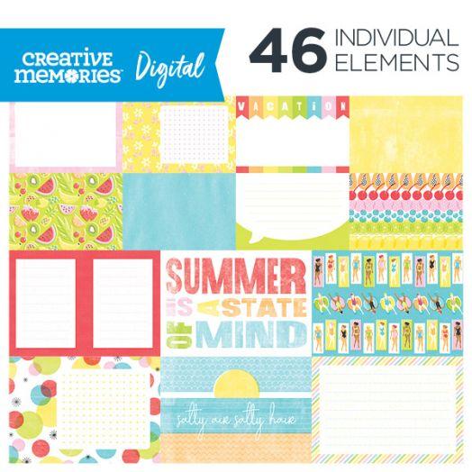 Digital Citrus Summer Mat Pack
