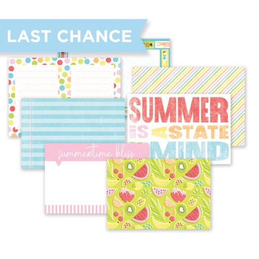 Creative Memories Citrus Summer scrapbook mats