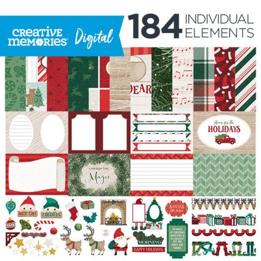 Christmas Digital Scrapbook Kit - Christmas Spirit