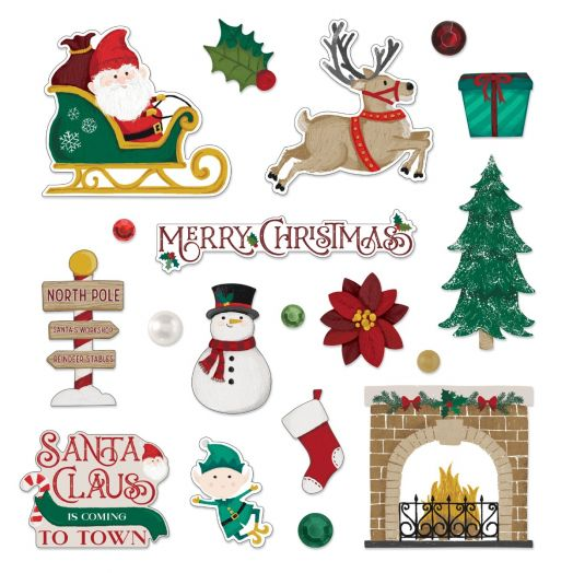 Creative Memories Christmas embellishments for scrapbooking - Christmas Spirit collection
