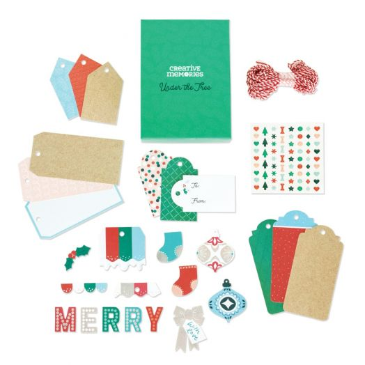 Creative Memories Christmas tags - Under the Tree DIY tag kit