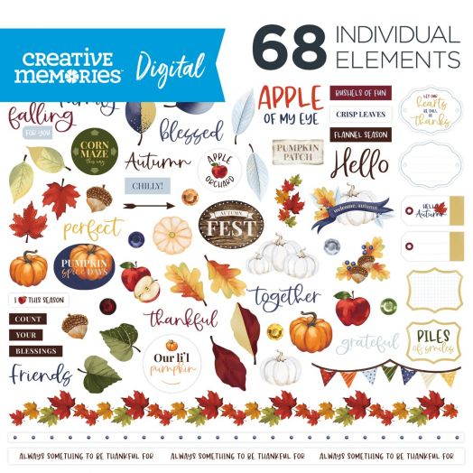 Creative Memories fall digital elements: Hello, Autumn