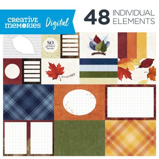 Creative Memories fall digital photo mats: Hello, Autumn