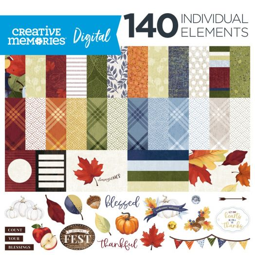 Creative Memories fall digital scrapbook kit: Hello, Autumn