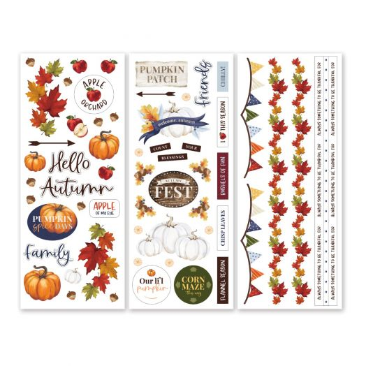 Creative Memories fall stickers for scrapbooking: Hello, Autumn