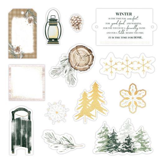 Creative Memories winter scrapbook embellishments - Winter Woods
