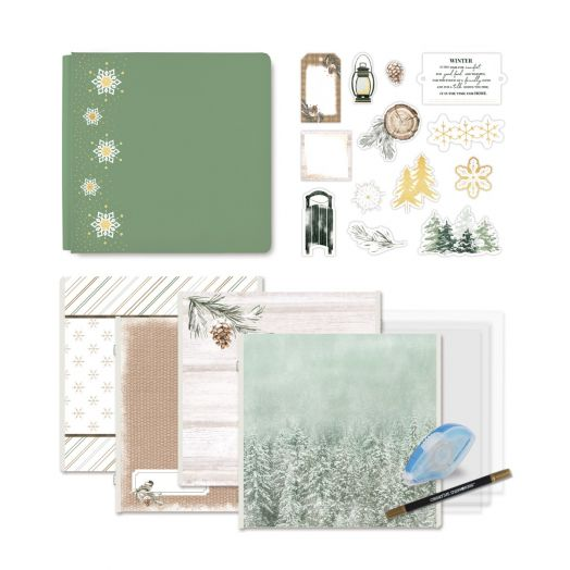 Creative Memories winter scrapbooking kit - Winter Woods