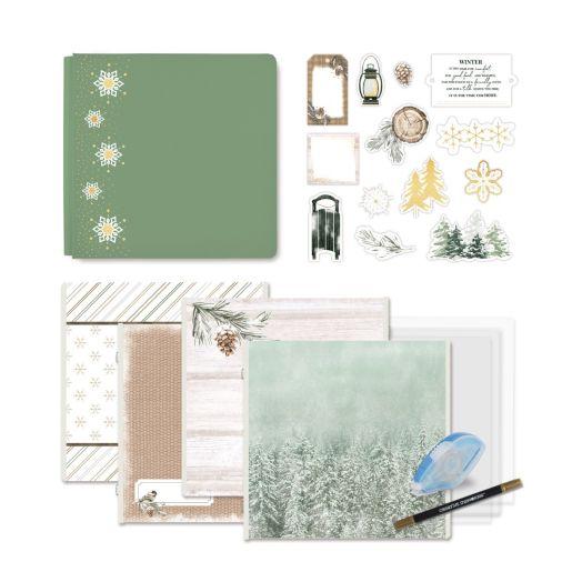 Creative Memories winter scrapbooking kit - Winter Woods