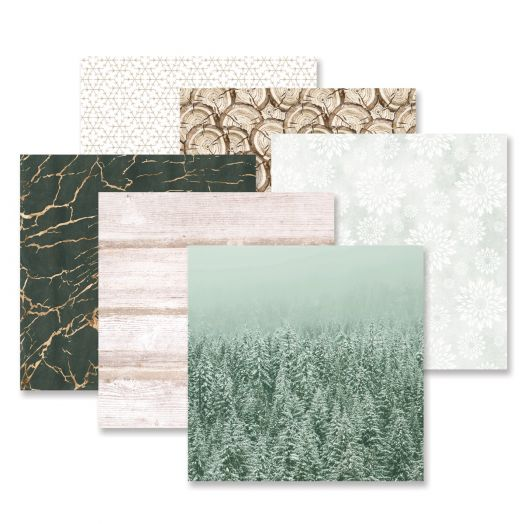 Creative Memories winter scrapbooking paper - Winter Woods