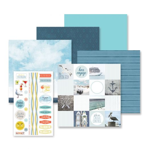 Creative Memories cruise scrapbook paper and stickers kit