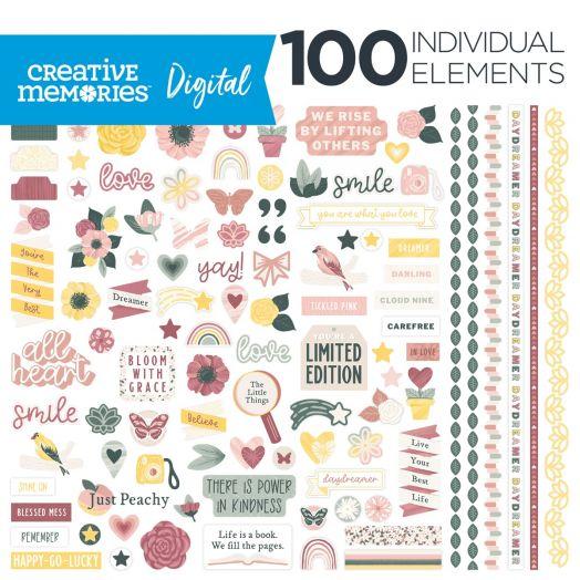 Digital Inspiration Scrapbook Elements: Daydreamer