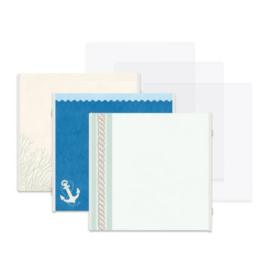 Creative Memories Deep Blue Sea predesigned nautical scrapbook pages - 657149