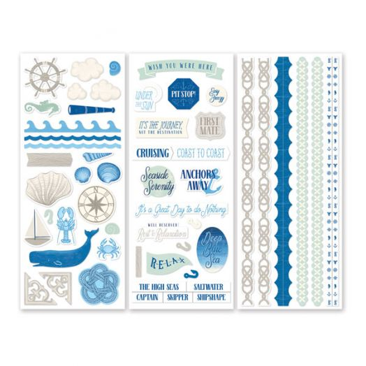 Creative Memories Deep Blue Sea nautical scrapbook stickers - 657153