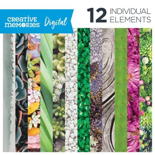 Digital Glowing Gardens Paper Pack - Creative Memories