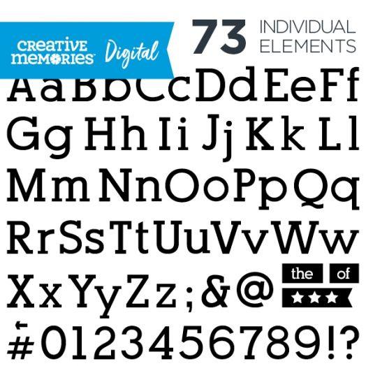 Digital Black Serif ABC/123 Elements