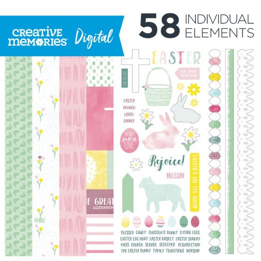 Easter Digital Scrapbooking Kit- Creative Memories
