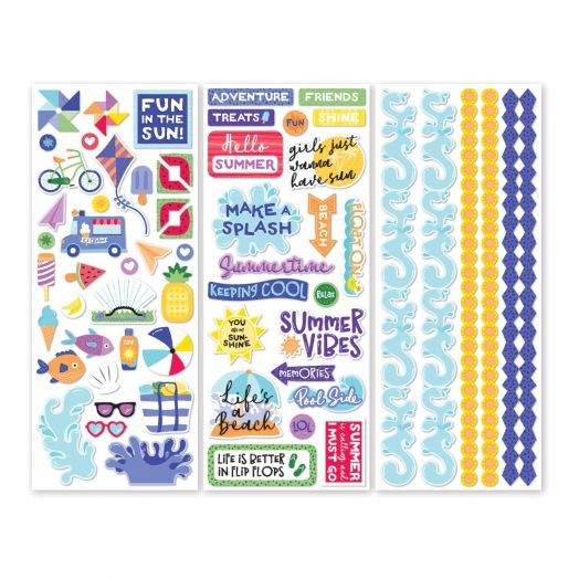 Creative Memories Electric Summer beach stickers