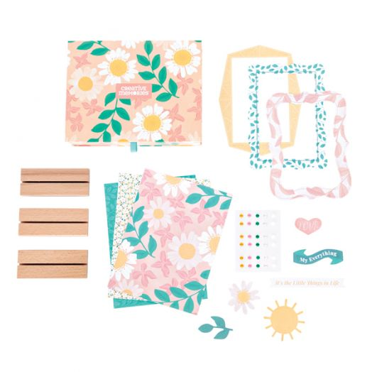 Everyday Photo Decor Kit - create picture frame crafts to send as cards or to display on wooden bases - Creative Memories