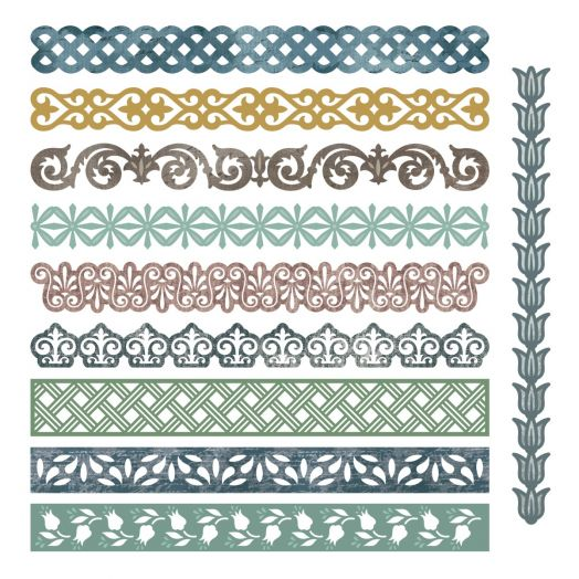 Creative Memories Family Memories scrapbook border embellishments - 657625