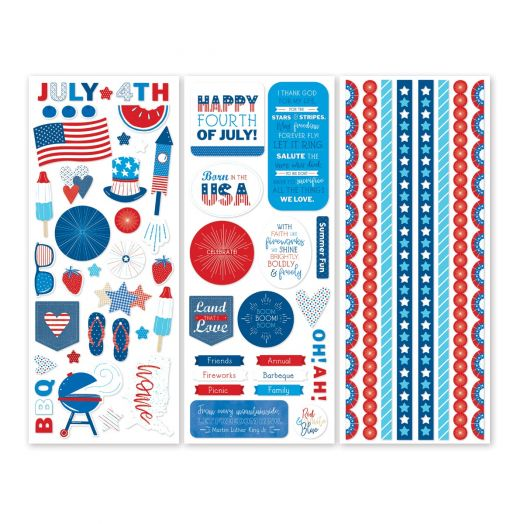 Creative Memories Festive Fourth patriotic stickers