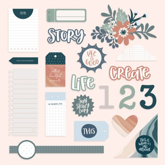 Creative Memories scrapbook embellishments - Happy Album Embellishments - 657466
