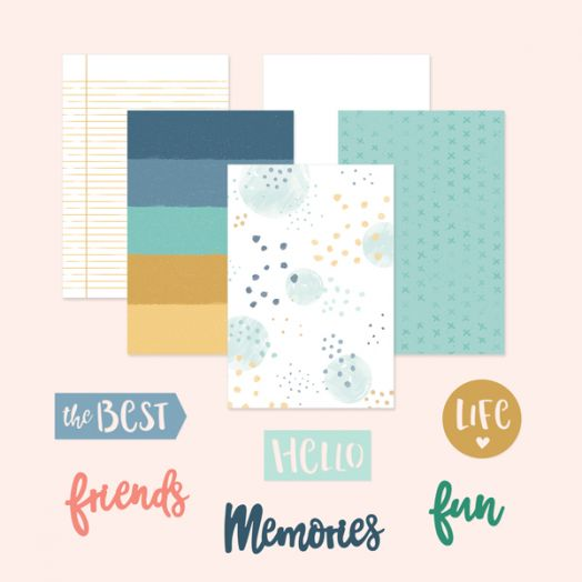 Creative Memories scrapbook page kits - Happy Album Kit #22 - 657054