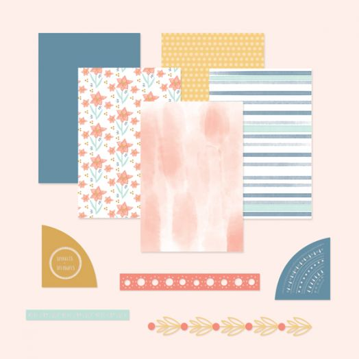 Creative Memories scrapbook page kits with Happy Album Kit #20
