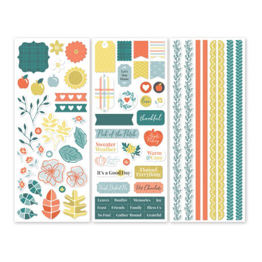 Creative Memories Harvest Delight fall and Thanksgiving stickers for scrapbooking - 657212