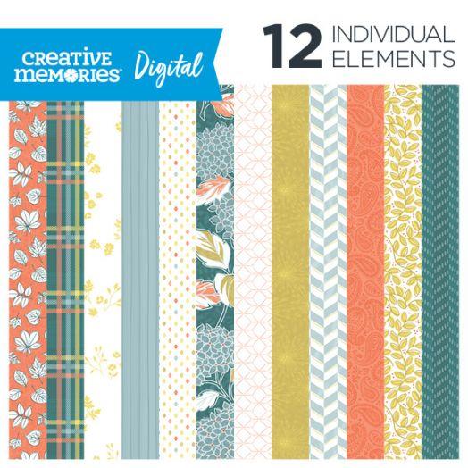 Creative Memories Harvest Delight fall digital paper - D657216