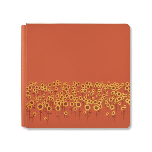 Creative Memories 12x12 orange Harvest Delight sunflower scrapbook album cover - 657207