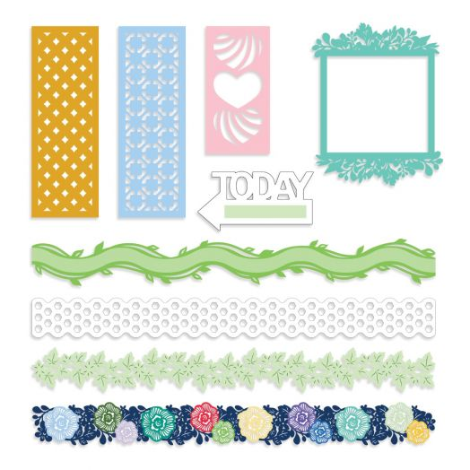 Creative Memories laser cut embellishments - Fresh Fusion collection
