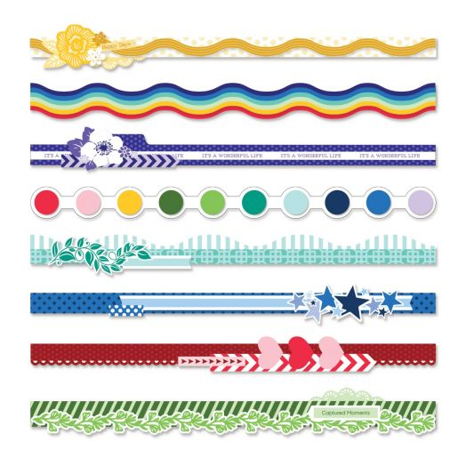 Creative Memories layered die cut borders - Fresh Fusion collection