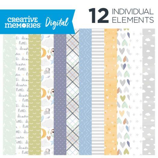 Creative Memories Little Dreamer baby digital scrapbooking paper