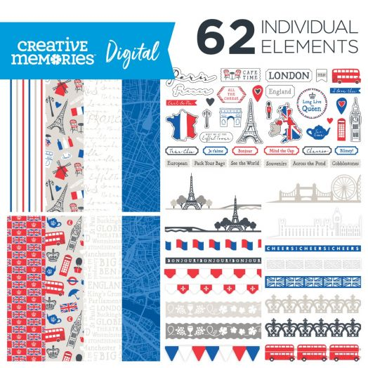 Digital Scrapbooking London & Paris Kit