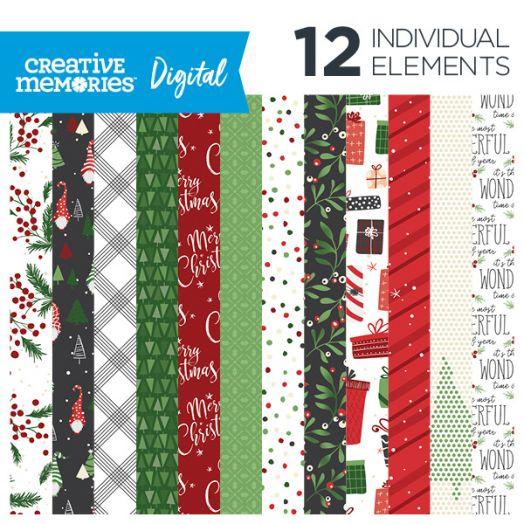 Creative Memories Merry Little Christmas digital paper - D657345